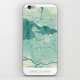 Vancouver Map Blue Vintage iPhone Skin