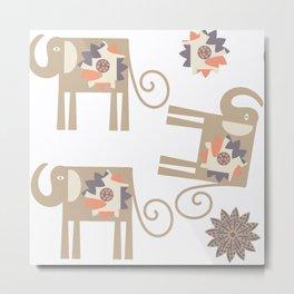 Elephant 3c Metal Print