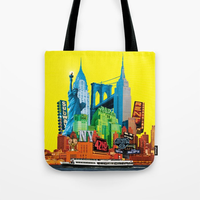 Suva Best Of New York Day Tote Bag By Suvawear