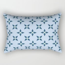 Gentle Blue Rectangular Pillow