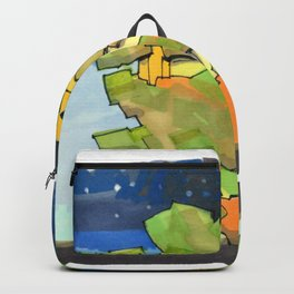 Starry Sky at Night Tree House 25 Backpack