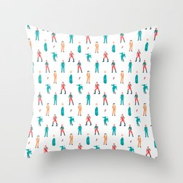 The Land of Bowie Throw Pillow