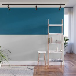 Blue over White Wall Mural