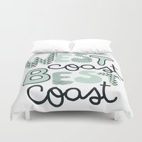 west coast Duvet Covers featuring West Coast Best Coast by Wandering Type