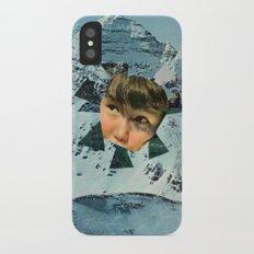 Child in the Wild Snow iPhone X Slim Case