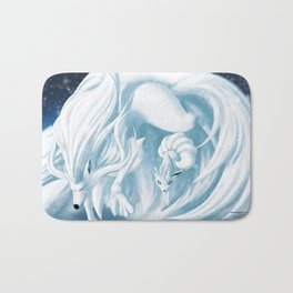 Alolan Ninetails and Vulpix Bath Mat