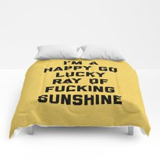 Ray Of Sunshine Funny Quote Comforters