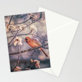 Northern Red Cardinal Spring Stationery Cards