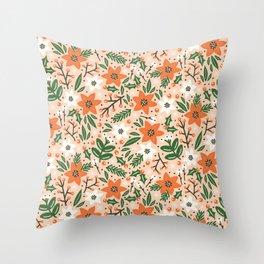 Poinsettia Throw Pillow