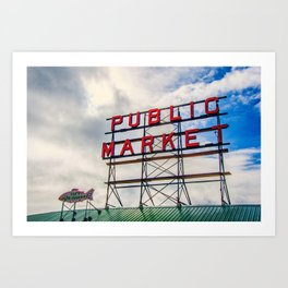 {The Seattle Collection} Pike Place Market #1 Art Print