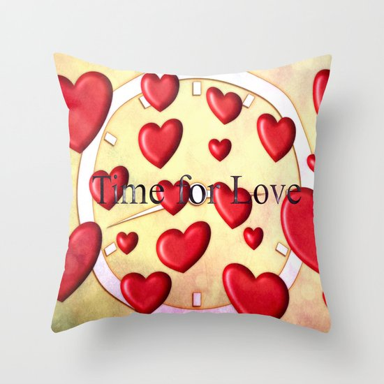 Time to love Throw Pillow