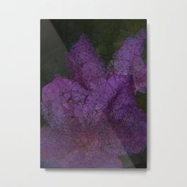 Low Poly Purple Azalea Flowers Metal Print