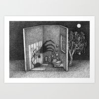 shadow Art Prints featuring Shadow by indivisualplay