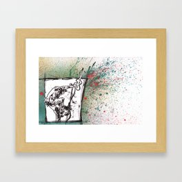 Been Steppin' on the Devil's Tail.... Framed Art Print