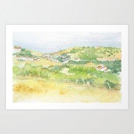 Portugal Burgau Art Print