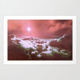 Deep Rose Pink Clouds Art Print