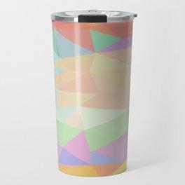 Pink to Gold Prisms Travel Mug