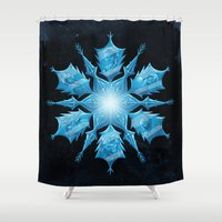 snowflake Shower Curtains featuring Snowflake by Salih Gonenli