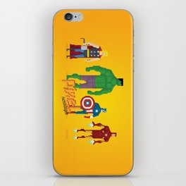 Super Heroes - Pixel Nostalgia iPhone Skin