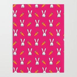 Vegan Gift Idea Cute Vegan Rabbit Poster