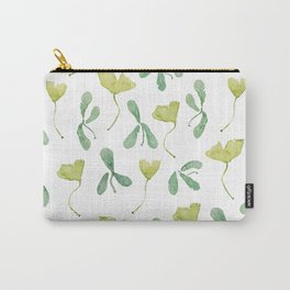 Beautiful Green Leaves Carry-All Pouch