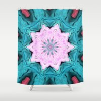 3d Shower Curtains featuring 3D by Susan Laine Studios