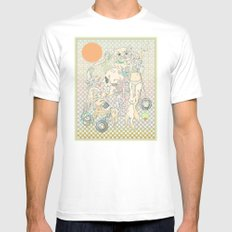 decay, cream & color  Mens Fitted Tee White MEDIUM