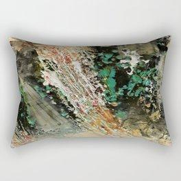 Butterfly Travalogue - Mixed Media Beeswax Encaustic Abstract Modern Art, 2015 Rectangular Pillow