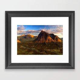 Brown Landscape Framed Art Print