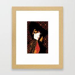 Julie Christie Redux Black Framed Art Print