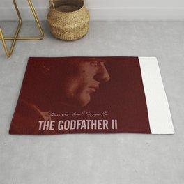 The Godfather Part II, Robert De Niro, Al Pacino, American movie poster Rug