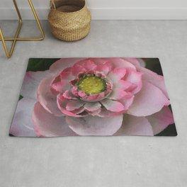 Lotos - Lotus Flower big close up Illustration Rug