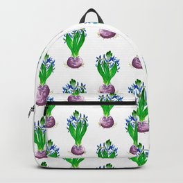 Christmas Hyacinth Flower Watercolor Decor Backpack