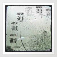ferris wheel Art Prints featuring Ferris Wheel by SilverSatellite