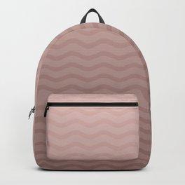 Copper Rose Gold Chevron Wave Backpack