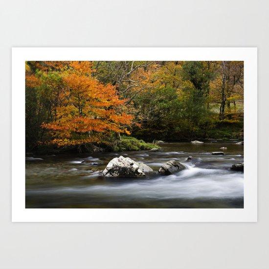 Pass of Aberglaslyn, Nanmor Valley, North Wales, Snowdonia, UK, Art Print