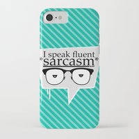 sarcasm iPhone & iPod Cases featuring Sarcasm by Daniac Design