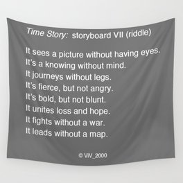 Time Story:  Storyboard VII (riddle) Wall Tapestry
