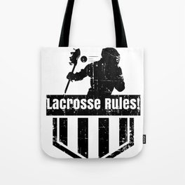 Lacrosse Rules! LAX Sport G.O.A.T Lacrosse Player Lacrosse Game ReLAX Steeze Tote Bag