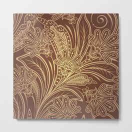 Brown pattern Metal Print