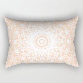 Pale Pumpkin and White Mandala Rectangular Pillow