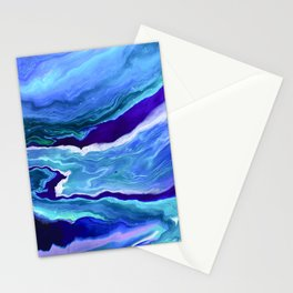Dreamy Fluid Abstract Painting Stationery Cards