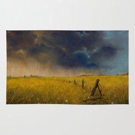 Rolling Thunder Pastel Art Print Rug
