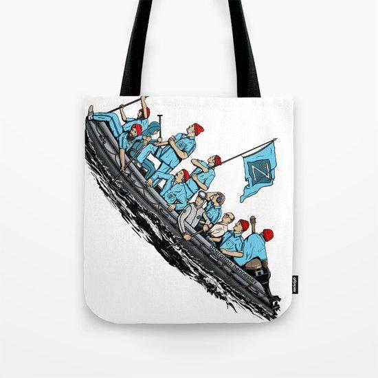 Team Zissou Crossing the Delaware Tote Bag