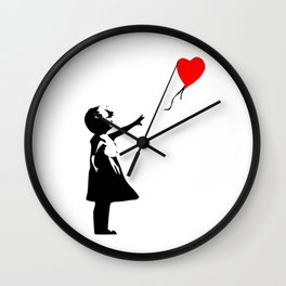 Girl with a ball Wall Clock