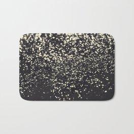 Sparkling BLUSH YELLOW BLACK Lady Glitter #1 #decor #art #society6 Bath Mat
