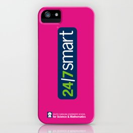 24/7 SMART in pink iPhone Case