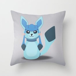 Evolution Bobbles - Glaceon Throw Pillow