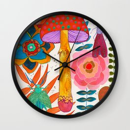 Gathering Story Seeds Wall Clock