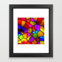 clown stained glass Framed Art Print